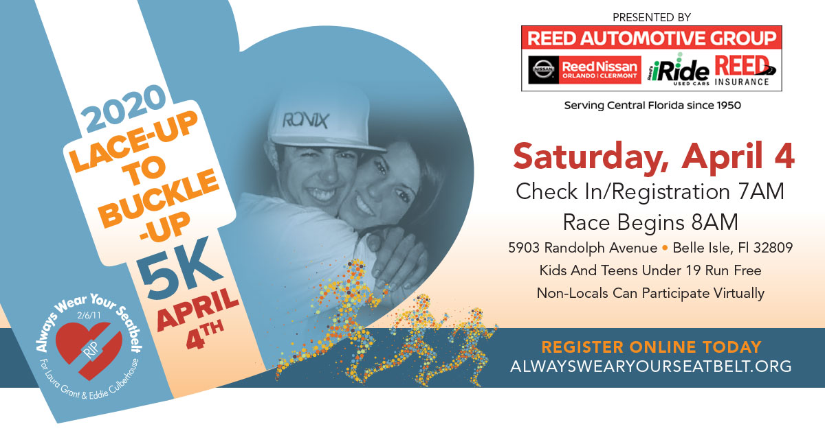 Lace-Up Buckle-UP 5k Saturday April 4